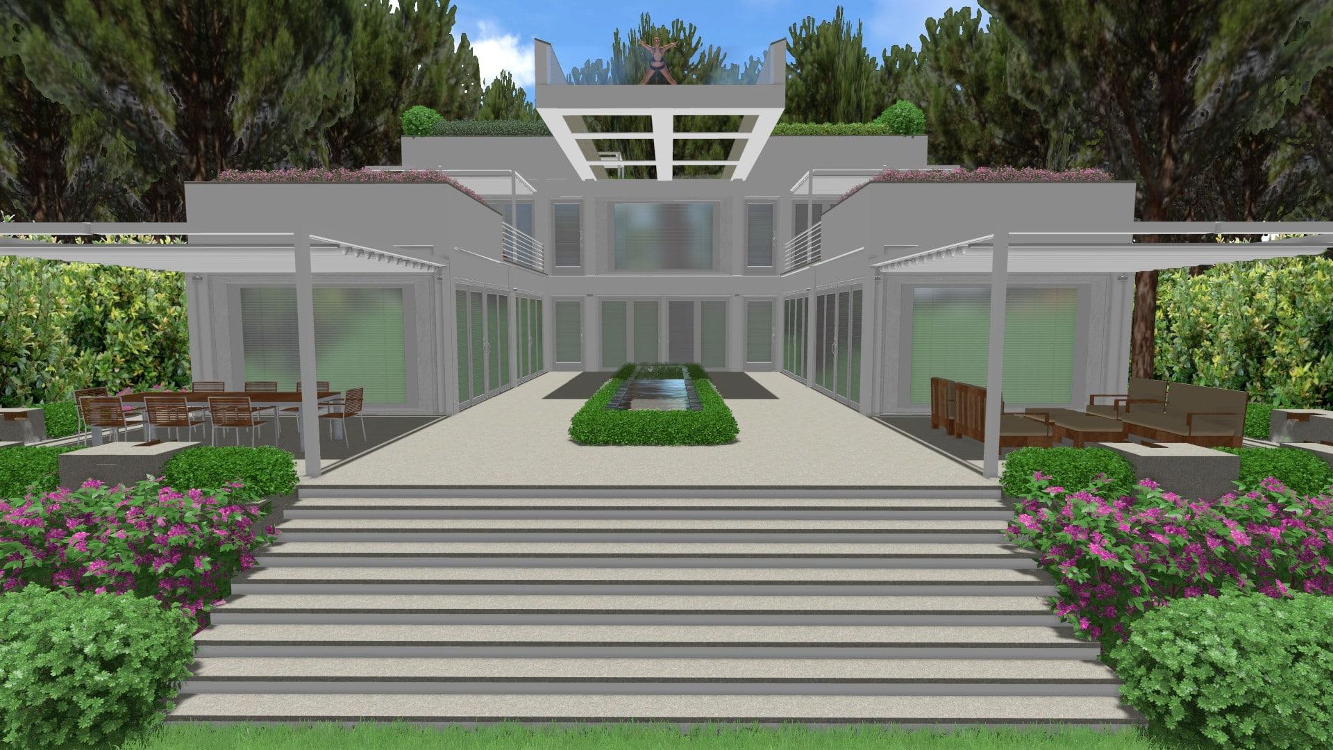Progettazione di piscina trasparente sulla terrazza - Davide Giorgi ...