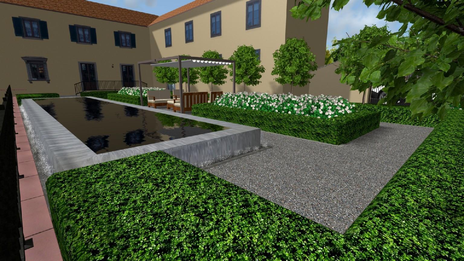 Progettazione di giardino con piscina a perugia 3 davide - Giardino con piscina ...