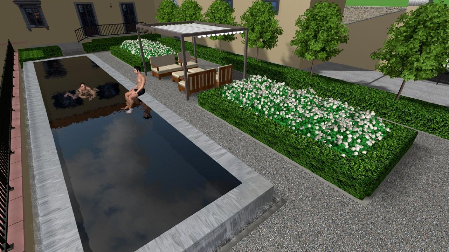 Progettazione di giardino con piscina a Perugia - Davide Giorgi ...