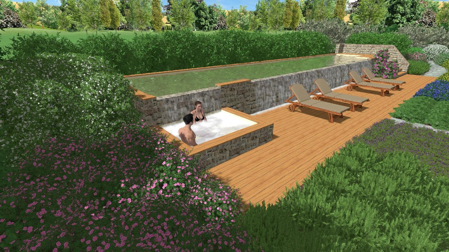 Progettazione di giardino con piscina in maremma 1 for Piscina in giardino