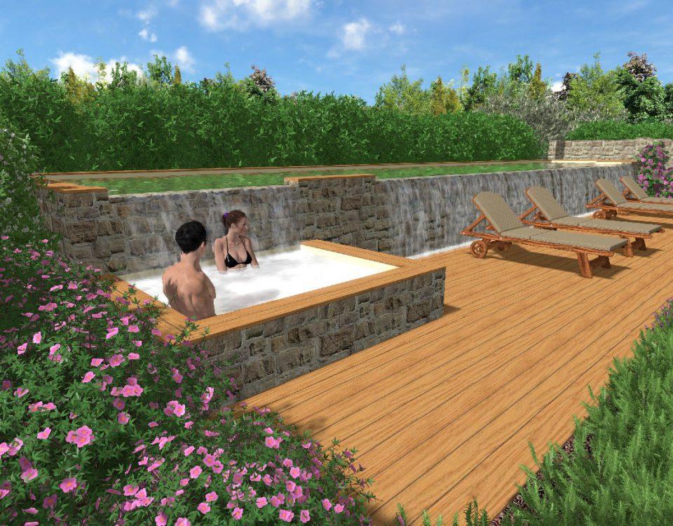 Progetti di giardini davide giorgi paesaggista for Piscina in giardino