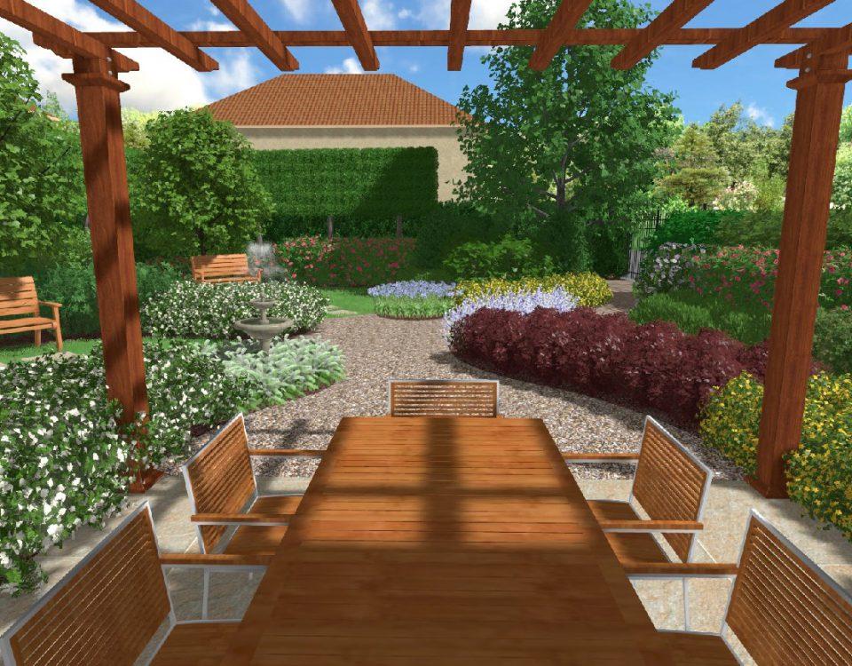 Progetti di giardini modelli di giardino privato giardino per bambini e cani with progetti di - Progetti giardino per villette ...