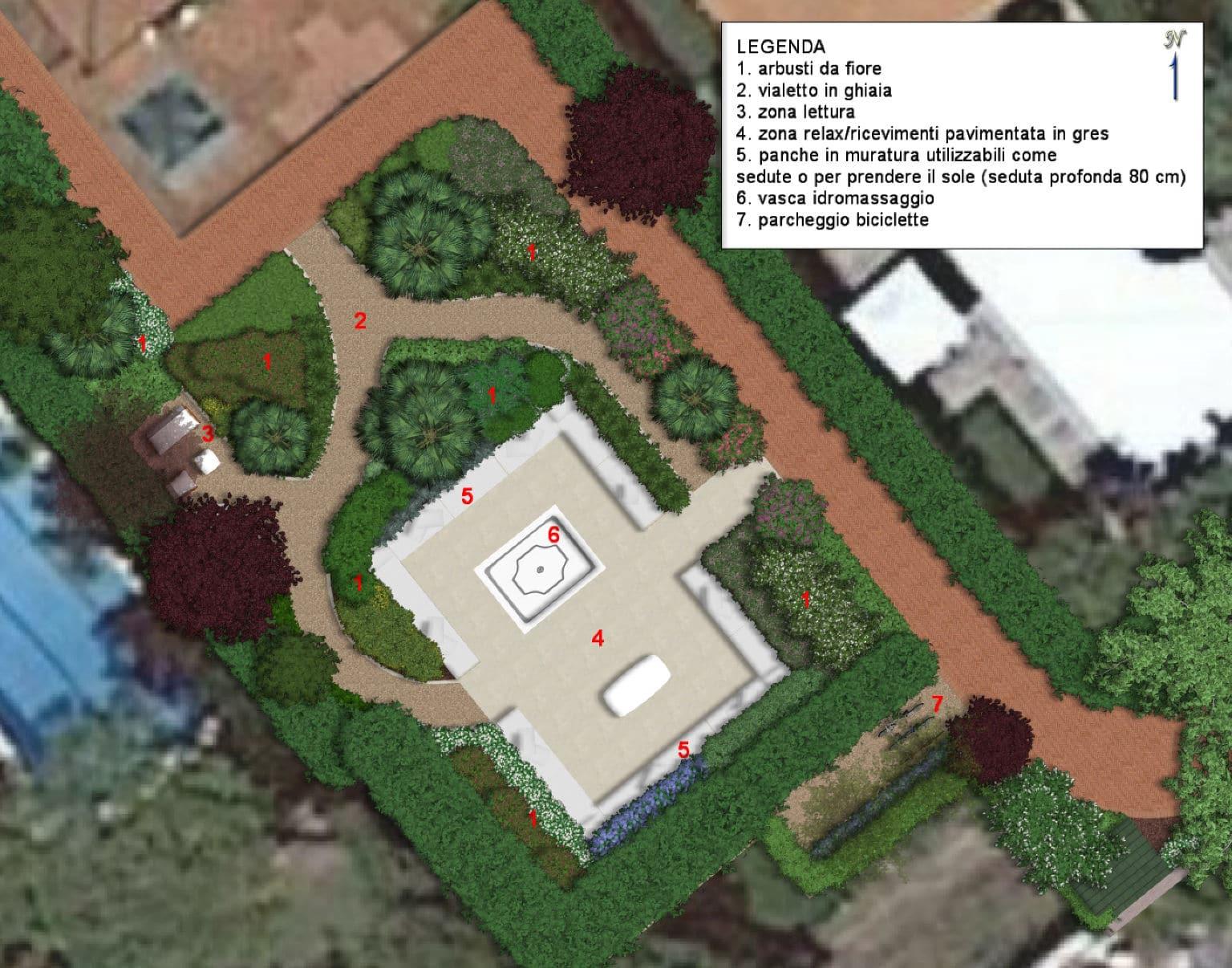 Progettazione di giardino in versilia davide giorgi for Progettazione giardini lucca
